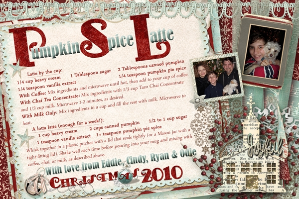 Christmas Card & Recipe 2010