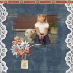 Monday Challenge-Lace  Lissa and little neighbor