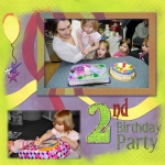Project SG 2011 January Week 4 Right: Laura&#39;s 2nd Birthday