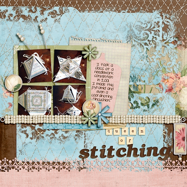 March 2011 Swap for Joyce-Queen of Stitching