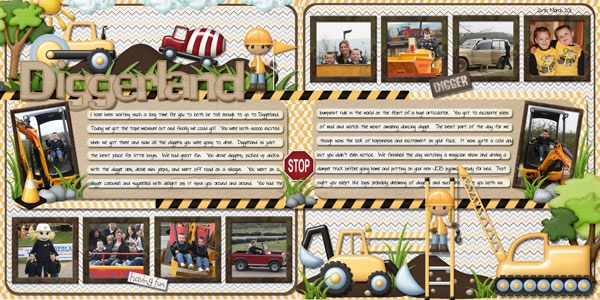 Diggerland Double page layout