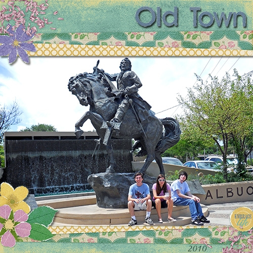 Old Town Fountain - March ScrapGirls Club