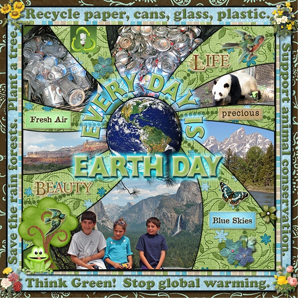 Every Day is Earth Day - April Layout of the Month Contest