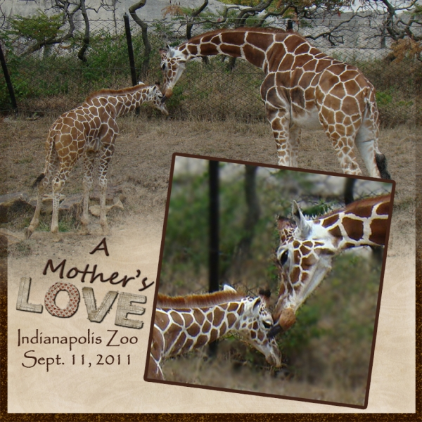 "Tues. Freebie Challenge - ""A Mother's Love"""