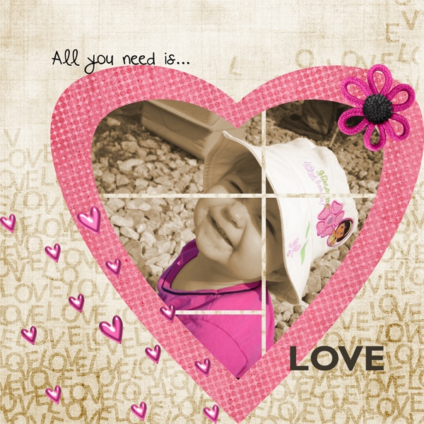 All you need is....LOVE! 11/12 Color Challenge