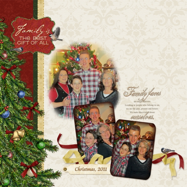 Task #4 Layout:  Family Christmas (right)