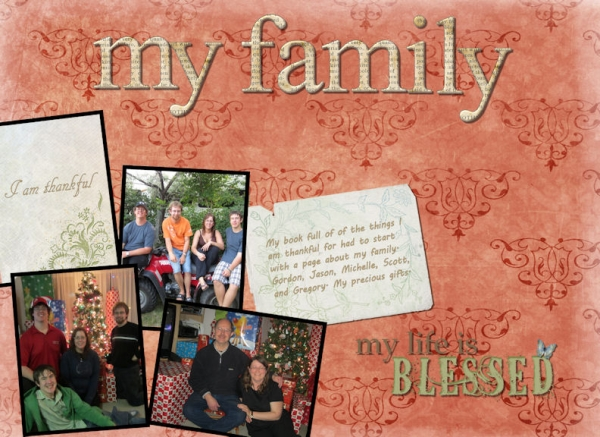 SG project- 1 Thankful for family