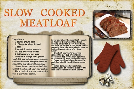 Slow Cooked Meatloaf
