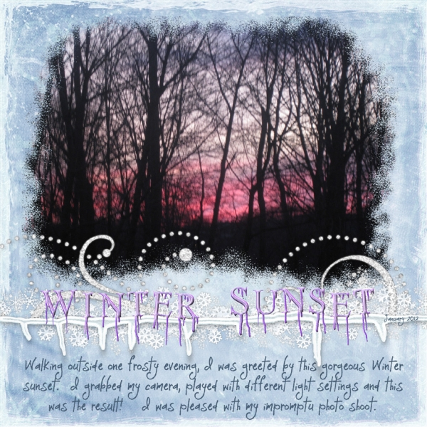 "JumpStart January -- ""Winter Sunset"""
