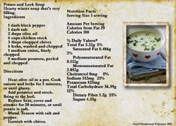 February 2012 Recipe Swap -- Potato Leek Soup