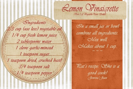 Lemon Vinaigrette-part 2