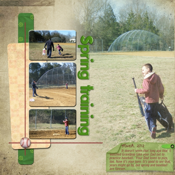 March Simple Steps Layout 4