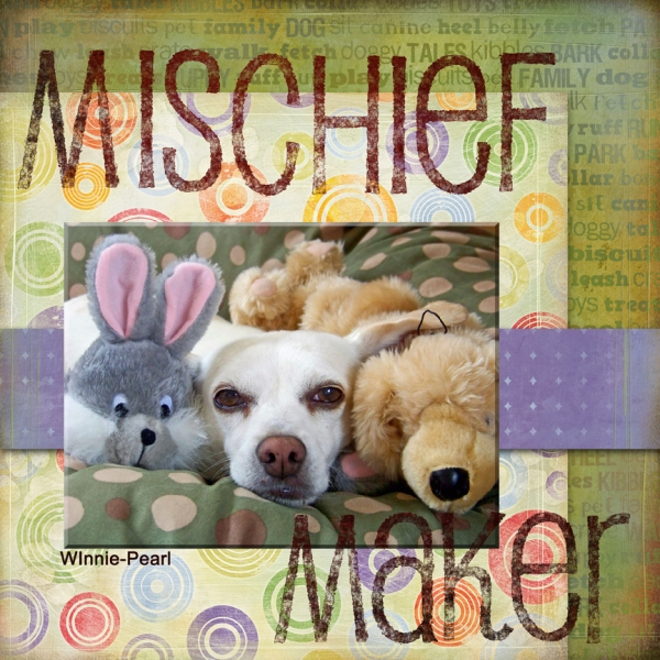 Word Art Quote/Challenge: Mischief Maker