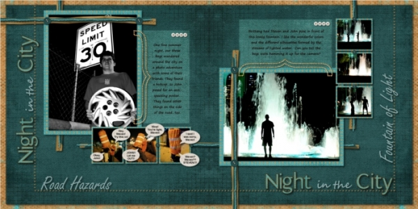 Night in the City (2 pages)