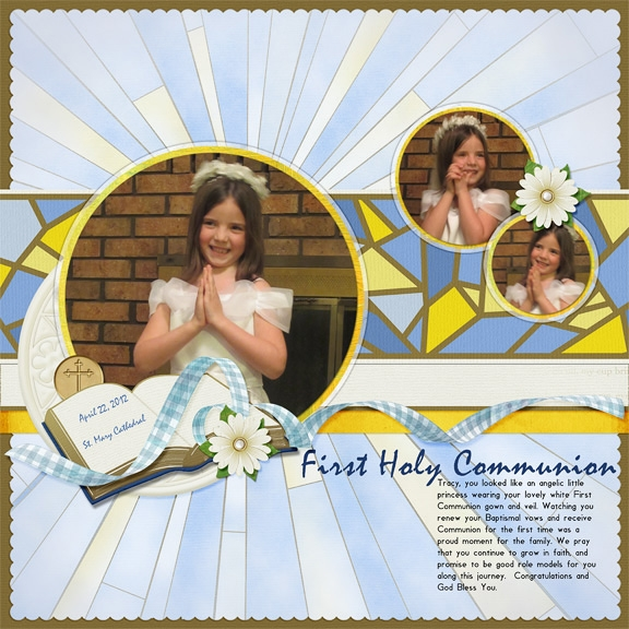 Tracy's First Communion