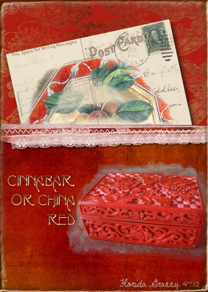 April ATC Favorite Color #2 Cinnabar