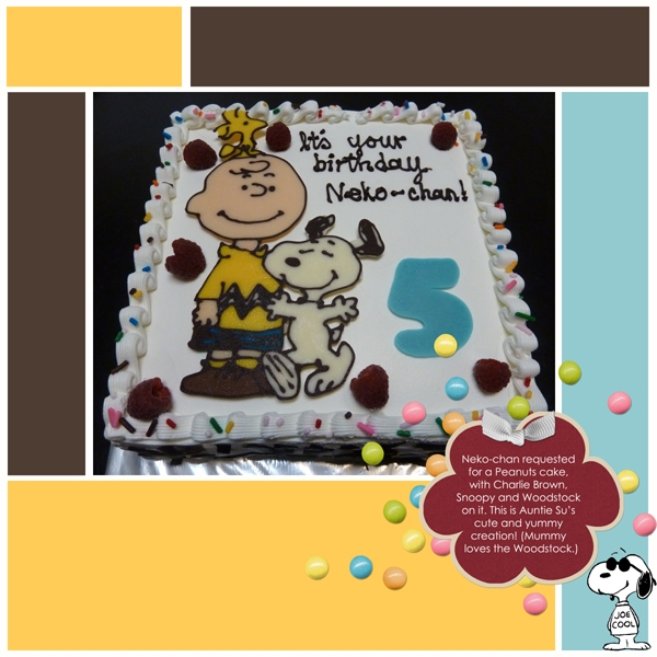 Neko-chan's Charlie Brown Birthday Cake