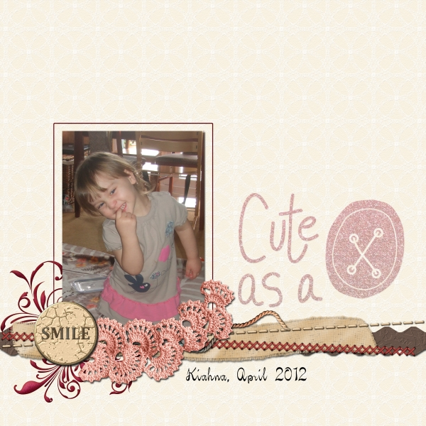 Tuesday Freebie Challenge - Cute as a Button