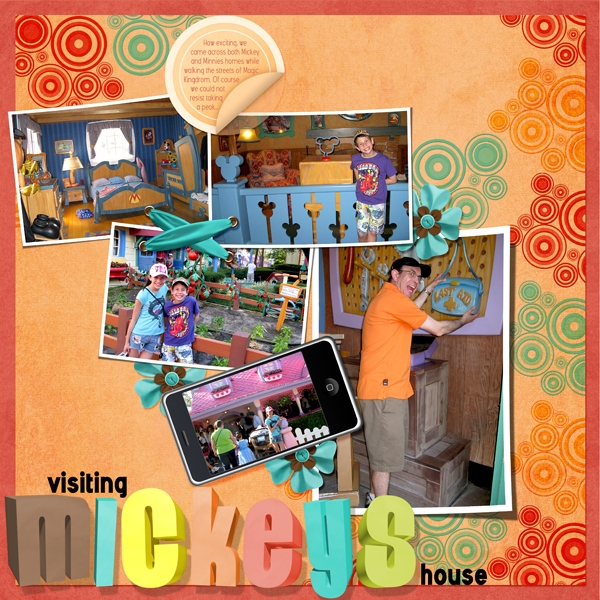 Visiting Mickeys house