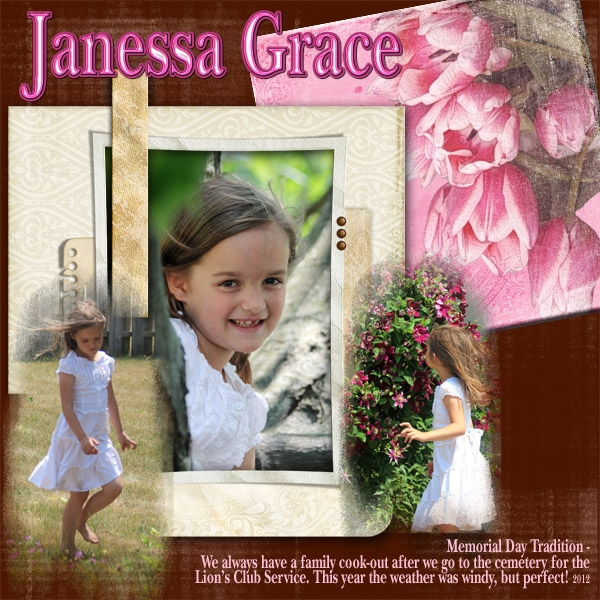 May 2012 Speed Scrap - Janessa Grace