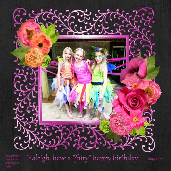 Our birthday girl with her sisters.