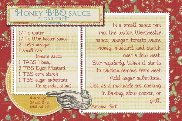 Honey BBQ sauce- sugar free