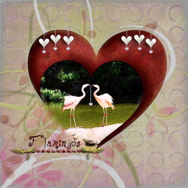 June Swap Crop - For Carol -Flamingos