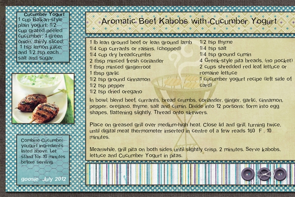 Aromatic Beef Kabobs with Cucumber Yogurt