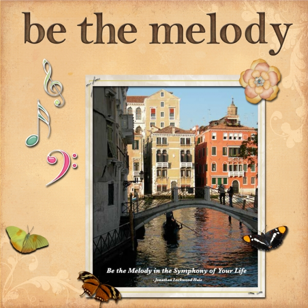 Thursday 8-23-12 Challenge -- Be The Melody Quote