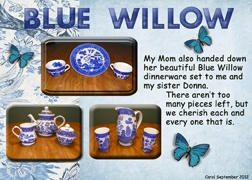 September 2012 ATC Challenge -- My Inheritance Blue Willow