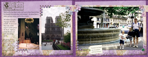 Paris Sights, June 2, spread