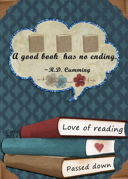 Sept. ATC-Love of Reading