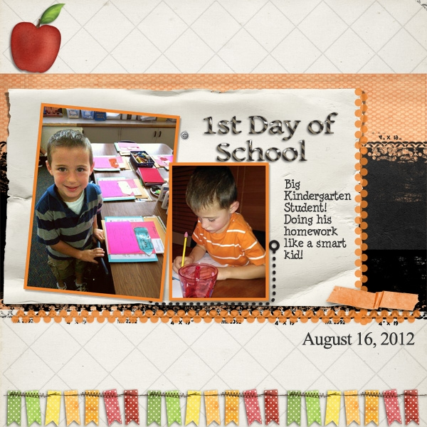 Saturday Color Challenge 9/8  1st Day of School
