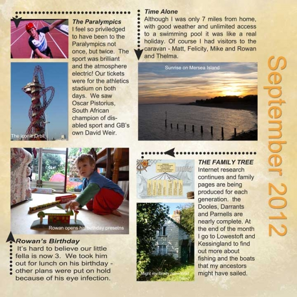 Project SG Challenge September Diary