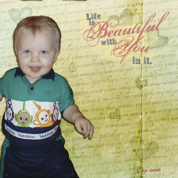Life is Beautiful (Scraplift challenge)