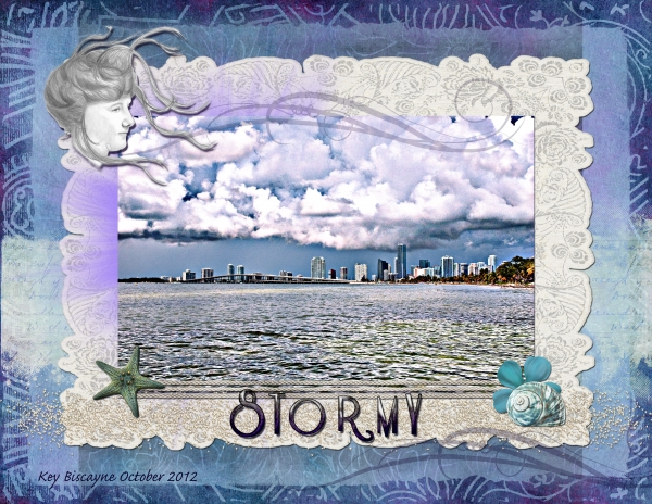 Oct 10 - HNC Patterned Paper - Stormy