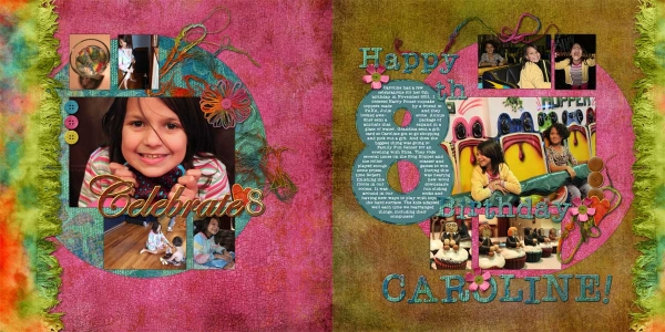 journaling challenge: Caroline's 8th birthday