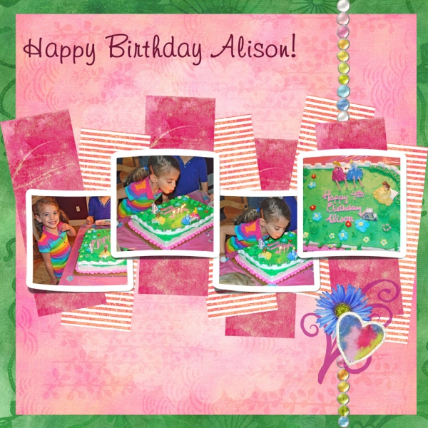 "Scraplift Challenge: ""Happy Birthday Alison!"""