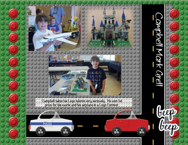 1st Place Lego Winner - my Campbell