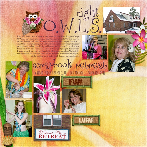 Sketch Chat - Night O.W.L.S. Scrapbook Luau Retreat (L side)
