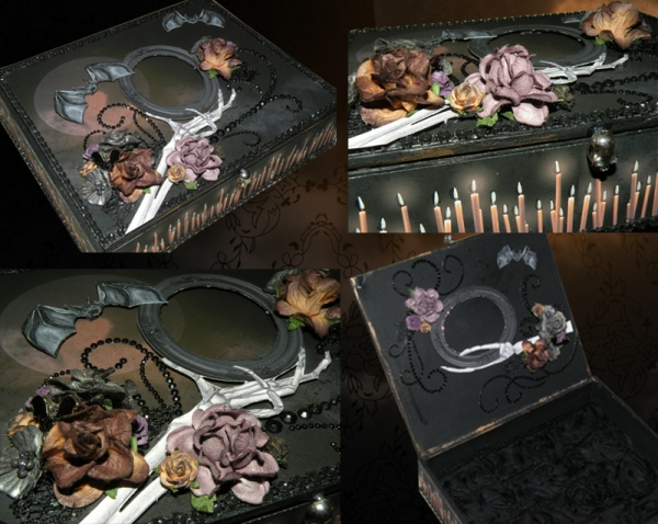 Altered Halloween Cigar Box
