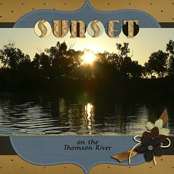 DSD Color Challenge -  Sunset on the Thomson River