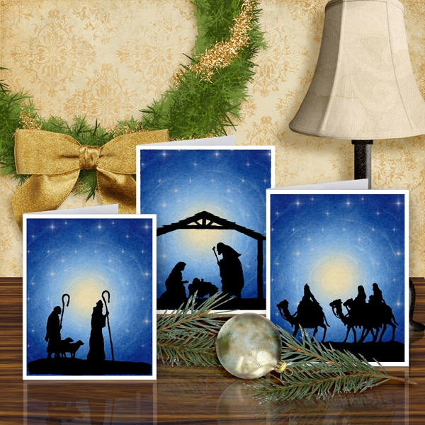 Silent Night card set