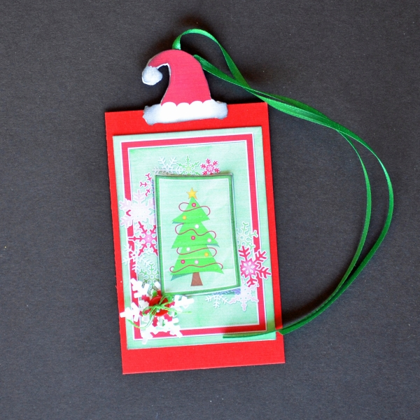 Printable Santa Hat Tag