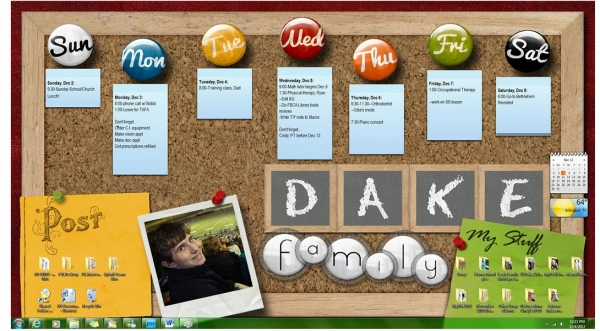Desktop Bulletin Board (Interactive with Gadgets)