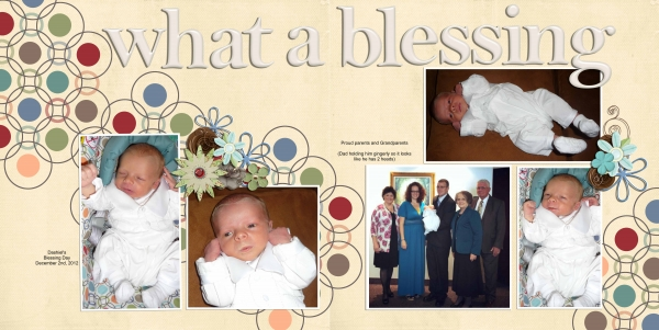 Our Little Blessing DoublePage