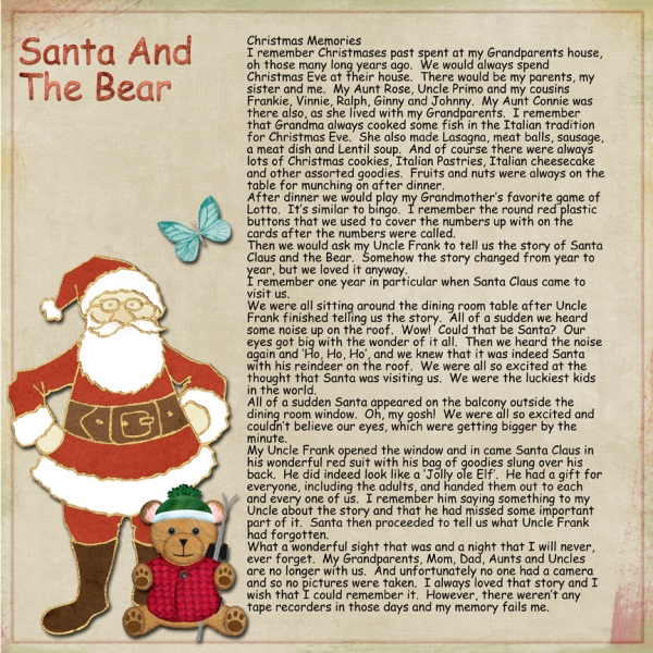 January 4th No Photos Challenge -- Santa & The Bear