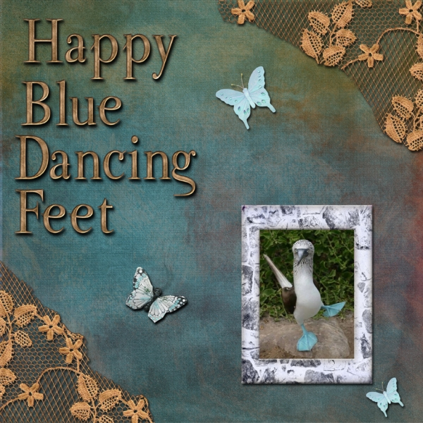 January 12th Color Challenge -- Happy Blue Dancing Feet