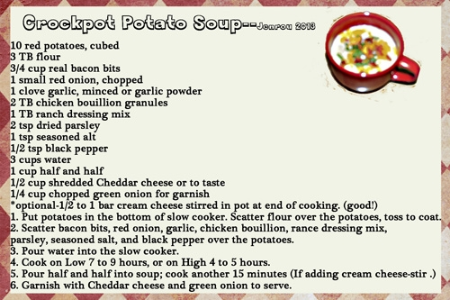 Jenrou_Crockpot  Potato Soup