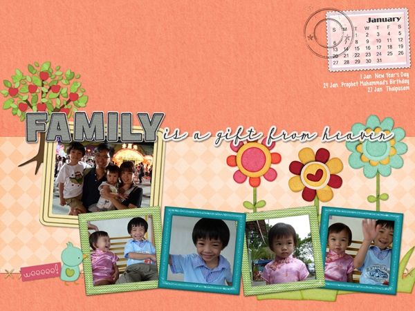 January 2013 Desktop Calendar